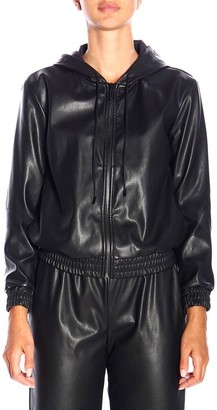 MICHAEL Michael Kors Bomber Jacket In Synthetic Leather With Hood