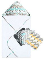 Trend Lab Seashore Waves 6-Piece Hooded Towel and Washcloth Bouquet Set