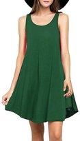 Bestisun Womens Simple Olive Tunic Flowy Loose Dress