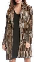 Karen Kane Faux Fur Paneled Coat