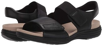 Aravon Beaumont Two Strap (Black) Women's Sandals