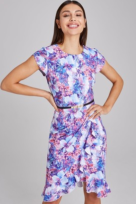 Paper Dolls Newbury Floral-Print Belted Frill Dress