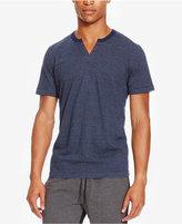 Kenneth Cole Reaction Men's Split-Neck Striped Eyelet T-Shirt
