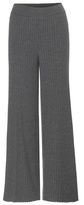 Stella McCartney Knitted Wool And Silk-blend Trousers
