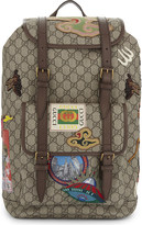 Gucci Canvas stickers backpack