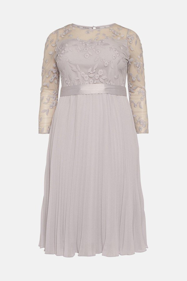 Thumbnail for your product : Coast Curve Embroidered Long Sleeve Midi Dress