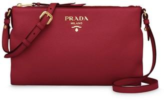 Prada Striped Strap Shoulder Bag