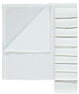 George White Muslin Squares 10 Pack