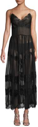 Dolce & Gabbana Ankle-Length Sheer Lace Dress