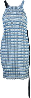 Jil Sander striped knit halterneck tunic