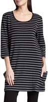 Joan Vass Striped Cotton Tunic