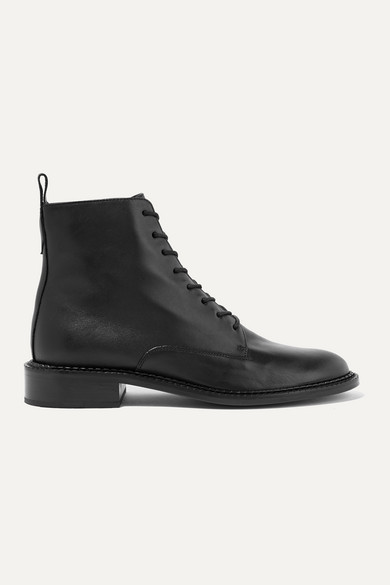 Vince Cabria Leather Ankle Boots - Black