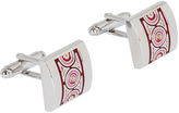 Oxford Cufflinks Silver/Print X