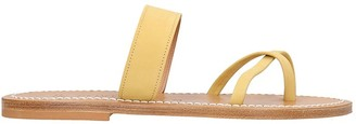 K. Jacques Flats In Yellow Suede