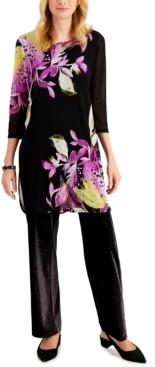 Alfani Printed Tunic, Created for Macy's