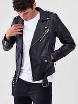 Deadwood Leather Biker Jacket