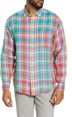Tommy Bahama Mahal Madras Plaid Linen Button-Up Shirt