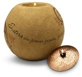 Forever Friends Pavilion Gift Company Comfort Candles 4-1/2-Inch Round Candle Holder, Sisters are