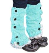 FEITONG® Winter Warm Kids Girls Crochet Knitted Lace Cuffs Leg Warmer