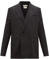 Bottega Veneta Wool-gabardine Double-breasted Suit Jacket - Mens - Grey