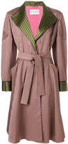 Etro striped belted coat