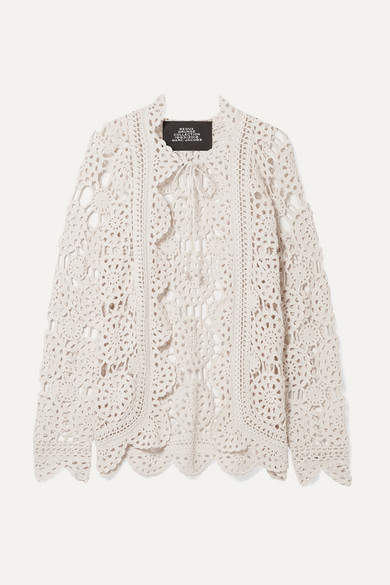 Marc Jacobs Crocheted Cotton Cardigan - Off-white