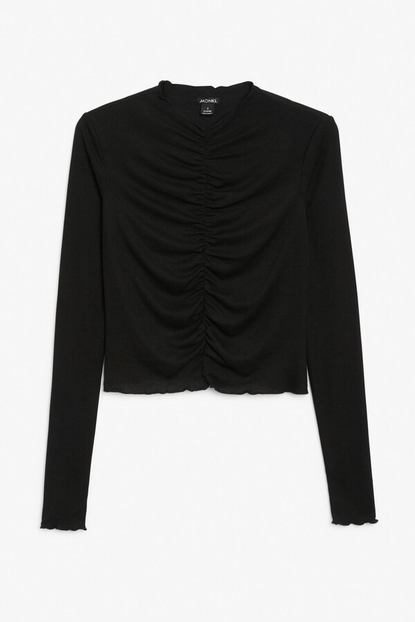 Thumbnail for your product : Monki Ruched long-sleeve top