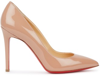 Christian Louboutin Pigalle 100 Blush Patent Leather Pumps