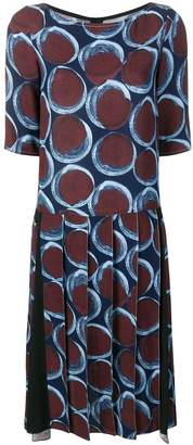 Marni graphic print pleated dress