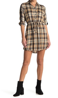 Angie Plaid Shirt Dress