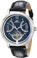 Adee Kaye Men's AK2241-M/BK Prospere Analog Display Automatic Self Wind Black Watch
