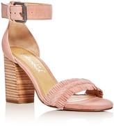 Splendid Jakey Fringe Ankle Strap High Heel Sandals