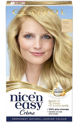 Clairol Nice 'N Easy Baby Blonde Permanent Hair Dye Colour 10A