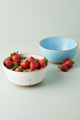 Anthropologie Colori Colander By in Blue Size M
