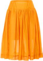 Paule Ka Cotton Silk Blend Full Skirt with Pockets