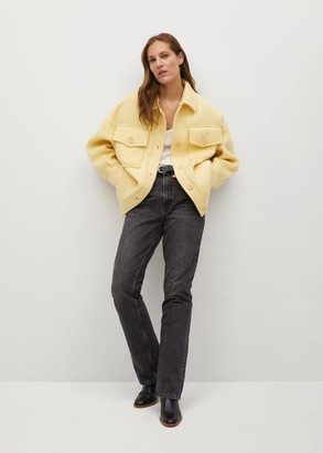 MANGO Knitted oversize jacket