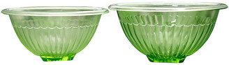 One Kings Lane Vintage Midcentury Glass Mixing Bowls - Set of 2 - THE QUEENS LANDING
