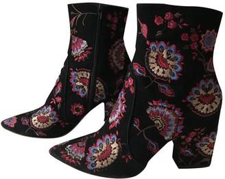 Loeffler Randall Black Suede Boots