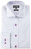 Stvdio by Jeff Banks - Purple Dobby Stripe Shirt
