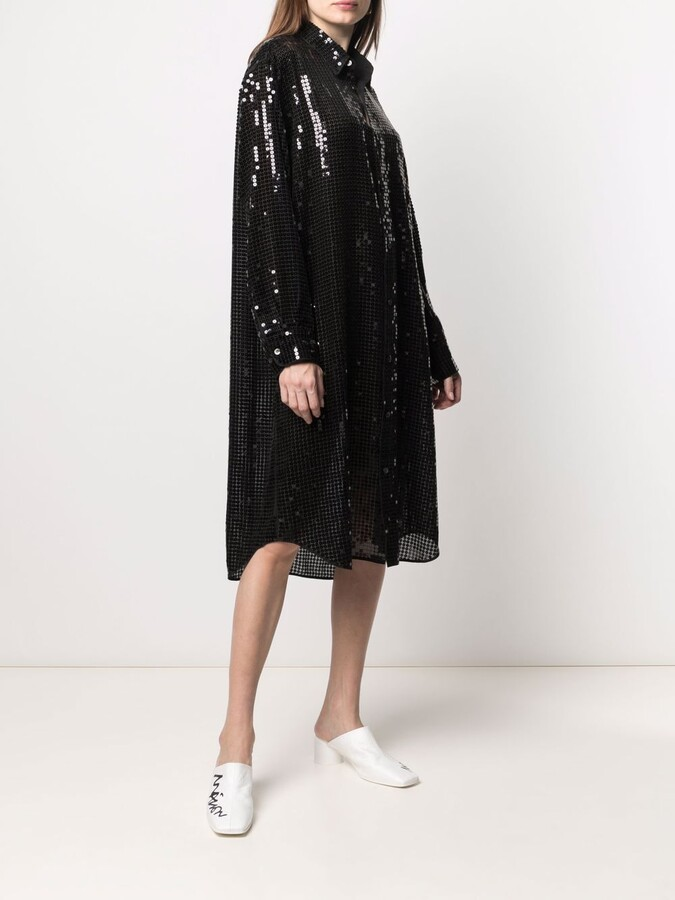 Thumbnail for your product : Junya Watanabe Sequin Embellished Shirt Dress