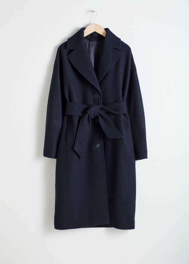 9b69629e1fd5 Belted Wool Coat - ShopStyle