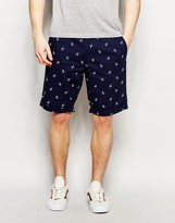 French Connection Anchor Print Chino Shorts