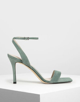Charles & Keith Open Toe Ankle Strap Stiletto Sandals