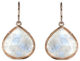 Irene Neuwirth Rose Cut Rainbow Moonstone Earrings - Rose Gold