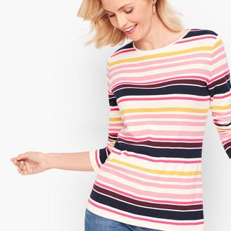 Talbots Long Sleeve Crewneck Tee - Sullivan Stripe