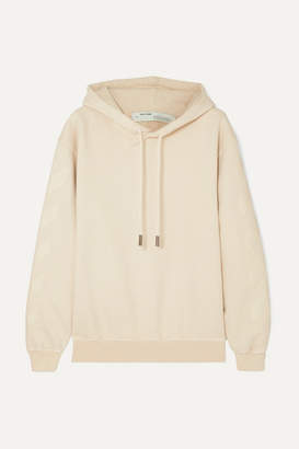 Off-White Off White Printed Cotton-terry Hoodie