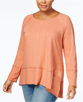 Style&Co. Style & Co Plus Size Seamed High-Low Top, Only at Macy's
