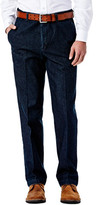 Haggar Work to Weekend Denim - Classic Fit, Flat Front, Hidden Expandable Waistband