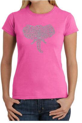 Women Word Art T-Shirt - Elephant Tusks