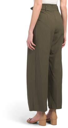 Juniors Tie Waist Wide Leg Pants